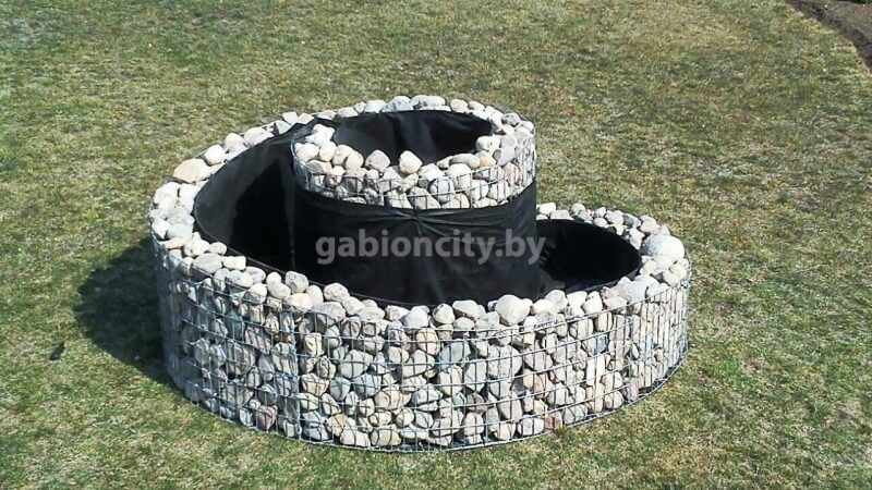 клумбы из камня