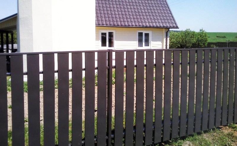 Забор из штакетника в Минске фото