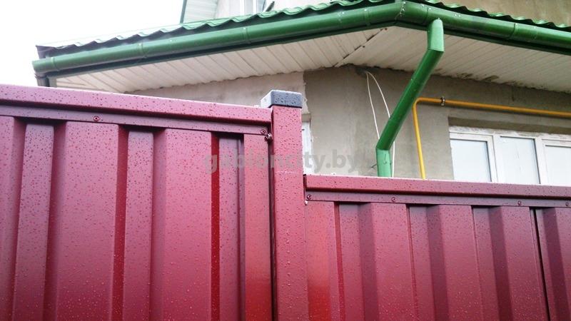 забор из профнастила без поперечин