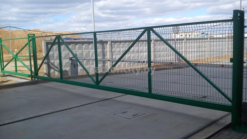 Промышленные откатные ворота в Минске